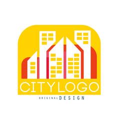 city logo original design modern real estate vector image