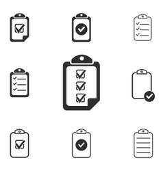 clipboard icon set vector image