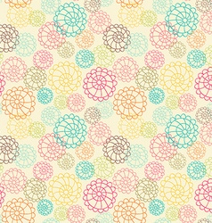 Color seamless floral hand drawn pattern vector image