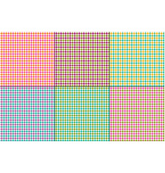 Colorful gingham plaids vector