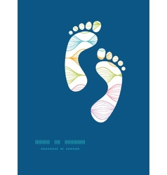 Colorful horizontal ogee footprints vector