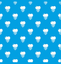 dental implant pattern seamless blue vector image