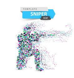 dot sniper military shoots a rifle vector image