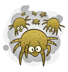 dust mites vector image