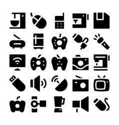 Electronics icons 2 vector image