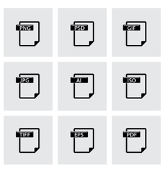 file type icons set vector image