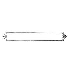 filigree banner has a single line border vintage vector image