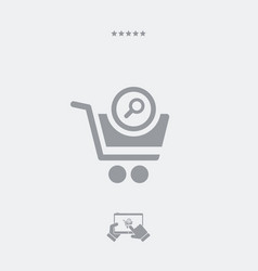 find product in the web store vector image