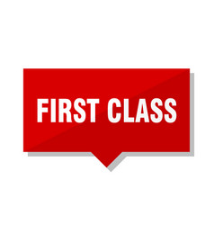 first class red tag vector image