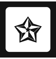 Five pointed celestial star icon simple style vector