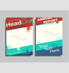 flyers report brochure cover book portfolio design vector image