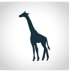 Giraffe black silhouette vector