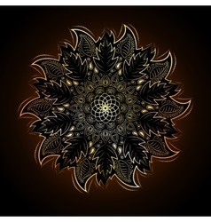 Gold mandala in Eastern style vector image