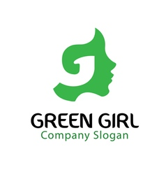 Green Girl Design vector image