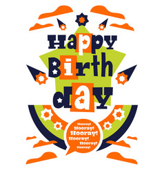 greeting card with happy birthday designed for vector image