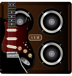 Guitar and cab vector