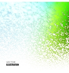Halftone colorful green marine lights falling dots vector