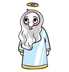 happy god on white background vector image