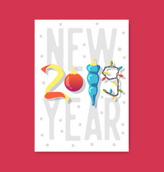 happy new year 2019 poster greeting card placard vector image