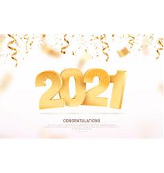 happy new year 2021 celebrating vector image