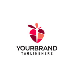 heart logo design concept template vector image