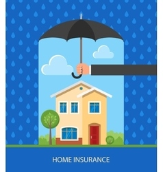 Home protection plan concept vector