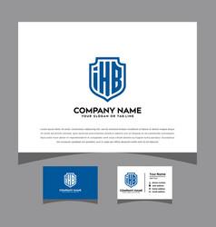 Initials ihb logo letters shielding pattern vector