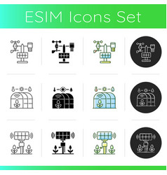 Innovation technology icons set vector
