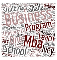 Ivey School Of Business text background wordcloud vector image vector image
