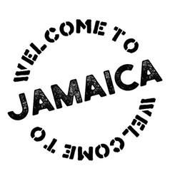 Jamaica typographic stamp vector
