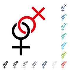 lesbian love symbol icon vector image