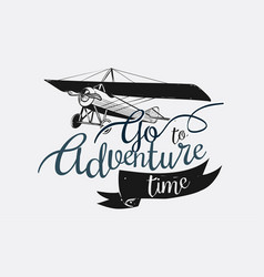 Logo with go to adventure time text vector