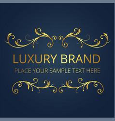 luxury brand logo template modern design im vector image