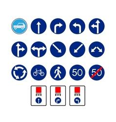Mandatory signs vector
