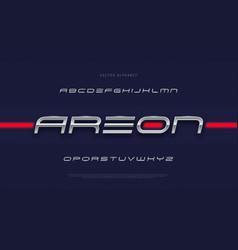 modern futuristic tech font vector image