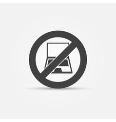 No computers black sign vector image