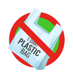 no plastic bag pollution problem prohibition vector image