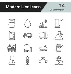 oil and petroleum icons vector image