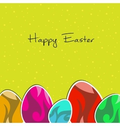 paper eggs Happy easter card vector image