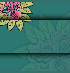 pattern of rose vector image