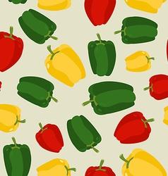 Pepper seamless pattern Vegetable background ripe vector image