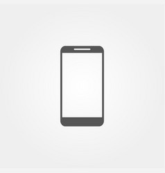 phone icon in flat style grey color vector image