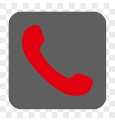 Phone Receiver Rounded Square Button vector