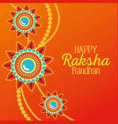 Poster flowers bracelet hindu decoration vector