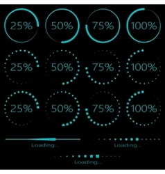 Preloaders and progress bar vector