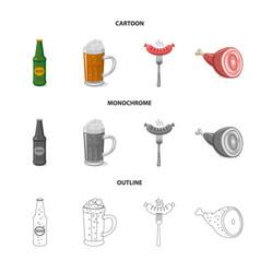Pub and bar sign vector