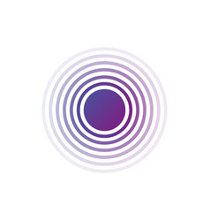 Purple gradient rings sound or waves in circle vector