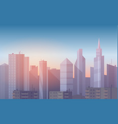 realistic soft cartoon cityscape vector image