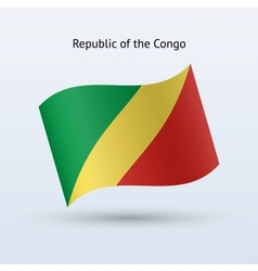 Republic of the Congo flag waving form vector image