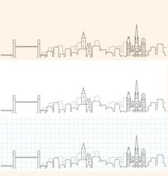 Rouen hand drawn profile skyline vector